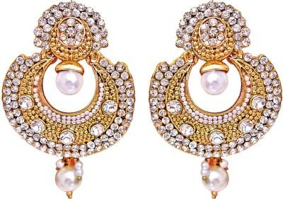 Surat Diamond Metal Chandbali Earring at flipkart