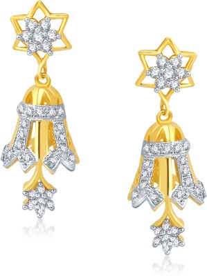 VK Jewels Cubic Zirconia Alloy Jhumki Earring at flipkart