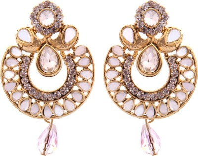 Kaizer Jewelry Party Wedding & Engagement Spark Alloy Chandbali Earring at flipkart