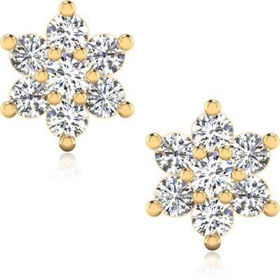 IskiUski Nilaya Yellow Gold 14kt Swarovski Crystal Stud Earring