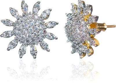alysa Aamukta Cubic Zirconia Silver, Alloy, Brass Stud Earring alysa Earrings