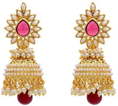 Jewels Gehna Cubic Zirconia Alloy Stud Earring, Jhumki Earring Jewels Gehna Earrings