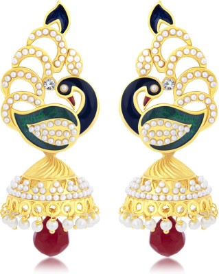 Sukkhi Blossomy Peacock Alloy Jhumki Earring at flipkart