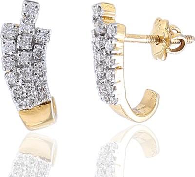 Jisha Yellow Gold 18kt Diamond Stud Earring