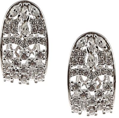 K A Jewellery ER14134 Swarovski Crystal Sterling Silver Hoop Earring