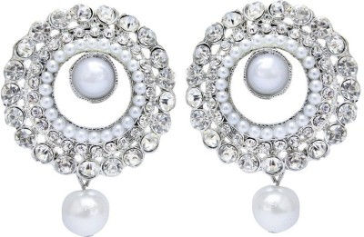 Styylo Fashion Diva Style Zircon Alloy Chandbali Earring at flipkart