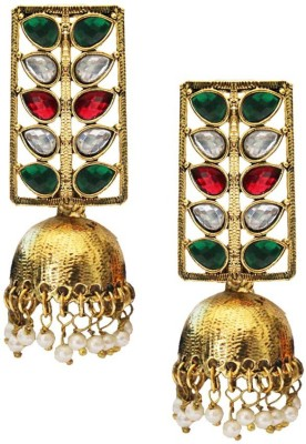 Being Women Elegant Gold Plated Kundan Studded Fashion Alloy Jhumki Earring  available at flipkart for Rs.999