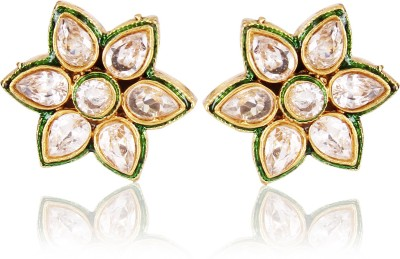 Shining Diva Kundan Copper Stud Earring at flipkart