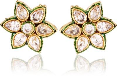 Shining Diva Kundan Copper Stud Earring at flipkart