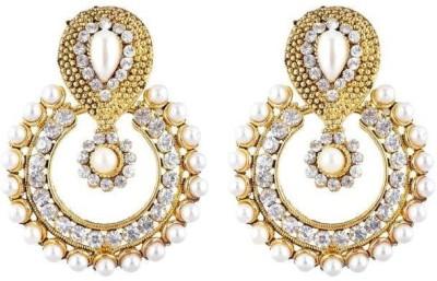 Jewels Guru Diva Style Pearl Alloy Chandbali Earring at flipkart