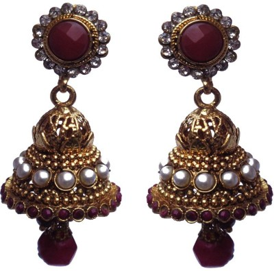 Kundaan Designer Crystal Copper Jhumki Earring at flipkart