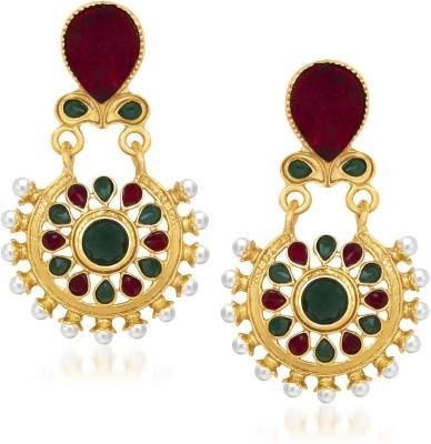MEENAZ Superhit Designer Kundan Cubic Zirconia Alloy Drops   Danglers MEENAZ Earrings