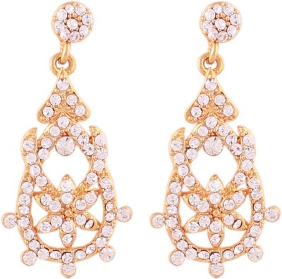 Grace Jewels LIGHT WEIGHT REGULAR WEAR Cubic Zirconia Alloy Drop Earring at flipkart