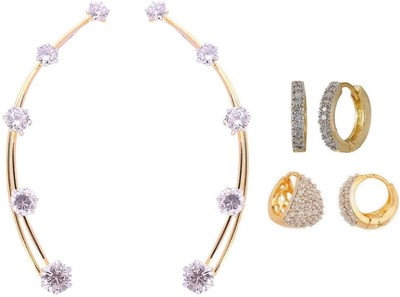 Jewels Galaxy Precious Collection AD JGR558 Alloy Earring Set Jewels Galaxy Earrings