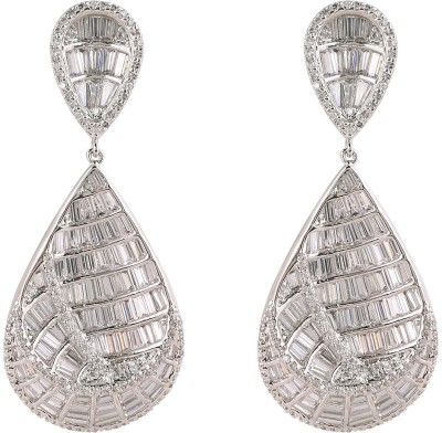 Shaze Lady Cubic Zirconia Brass Drop Earring at flipkart