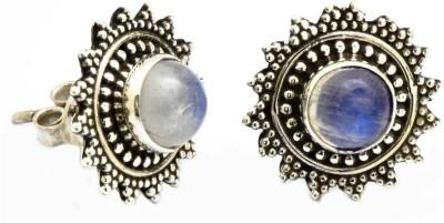 Miska Silver Natural Gemstone Earring Moonstone Sterling Silver Stud Earring