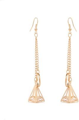 GoldNera Triangular Fall Alloy Tassel Earring GoldNera Earrings