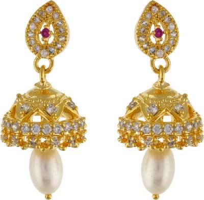 Aarushi Princess Cubic Zirconia Alloy Jhumki Earring Aarushi Earrings