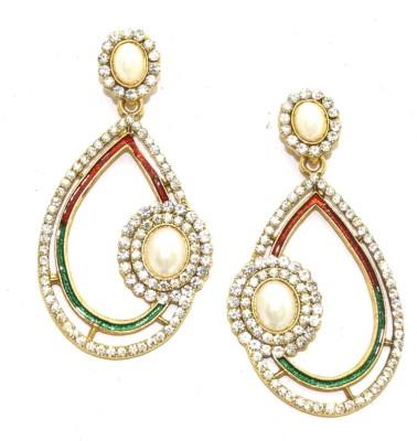 Aarnaa Almond Shape Alloy Drop Earring at flipkart