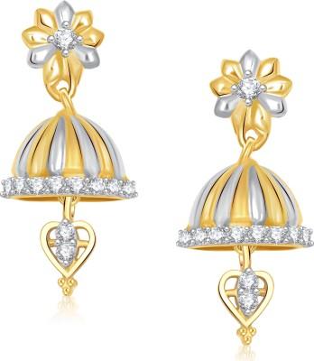 VK Jewels Pair of Flower Cubic Zirconia Alloy Jhumki Earring at flipkart
