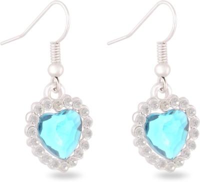 Sparkling Drop Heart Alloy Drop Earring