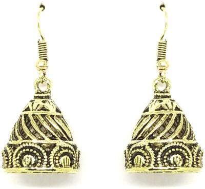 GoldNera Antique Lusture Alloy Jhumki Earring GoldNera Earrings