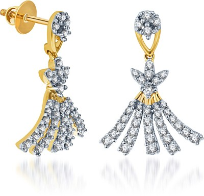 KaratCraft Yellow Gold 18kt Drop Earring at flipkart