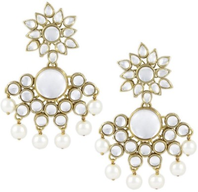 Karatcart Leela Kundan Brass, Alloy Drops & Danglers at flipkart