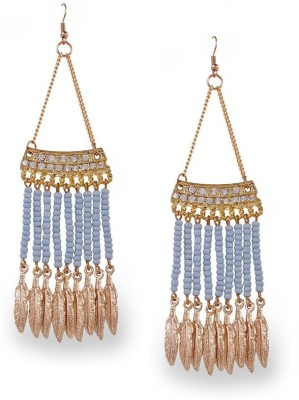 Blueberry Evening Shine Metal, Glass Drops & Danglers at flipkart