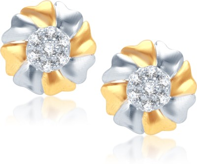 VK Jewels VK Jewels Attractive Flower Gold And Rhodium Plated Earrings. Alloy Clip-on Earring at flipkart
