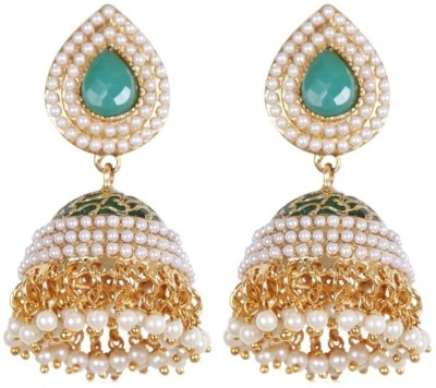 Rajwada Arts Traditional Brass Jhumki Earring at flipkart