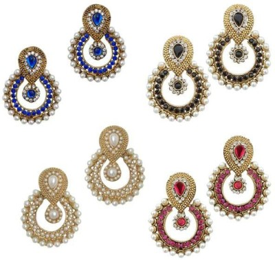 Jewels Guru Diva Style Cubic Zirconia Alloy Earring Set at flipkart