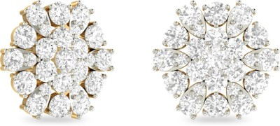 WearYourShine by PC Jewellers The Fabiaana Yellow Gold 18kt Diamond Stud Earring at flipkart