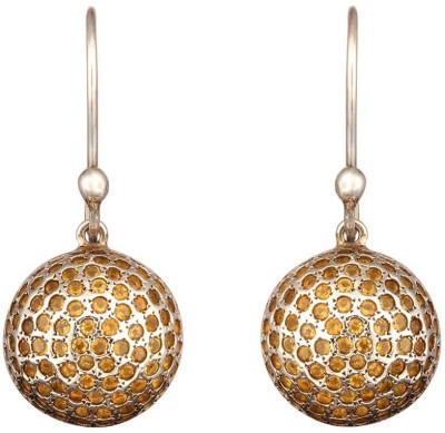 Mirror White Citrine Ball Drops Silver, Metal Drops & Danglers at flipkart