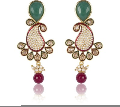 Aaishwarya Ambi Design With Kundan Crystal Alloy Drop Earring at flipkart
