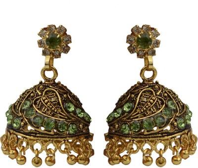 Taj Pearl Designer Balis Alloy Jhumki Earring Taj Pearl Earrings