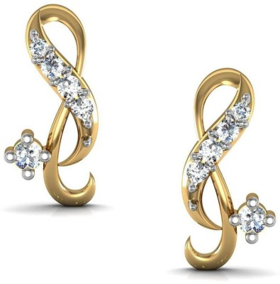 Avsar Janvhi Yellow Gold 18kt Diamond Stud Earring