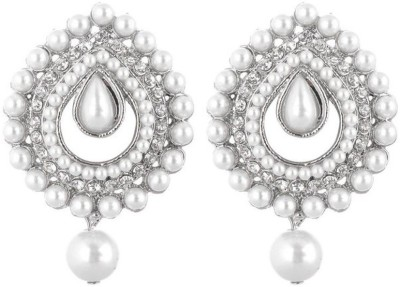 Jewels Capital Diva Style Zircon Alloy Chandbali Earring Jewels Capital Earrings