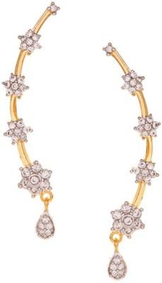 Jewels Galaxy Cubic Zirconia Alloy Cuff Earring Jewels Galaxy Earrings