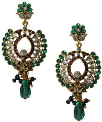 Being Women Elegant Gold Plated Kundan Studded Fashion Alloy Drop Earring  available at flipkart for Rs.999