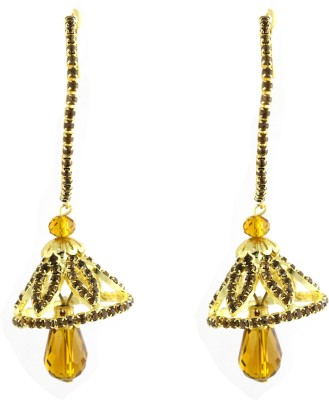 Sewad Artificial Gold Colored Hoop With Jumki (BID1003B) Zircon Copper Jhumki Earring at flipkart