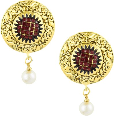 Shining Jewel Tradtional Antique Ram Leela Bali Cubic Zirconia Brass Drop Earring  available at flipkart for Rs.265