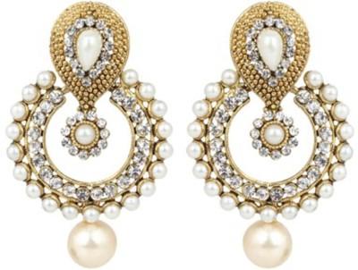 Trendy Nuts Dangle   Drop Golden Pearls Pearl Alloy Chandbali Earring Trendy Nuts Earrings
