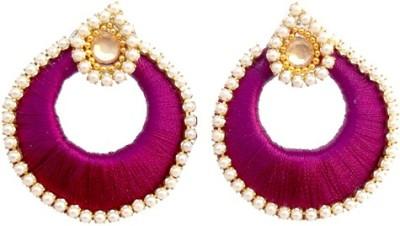TrendyTrendy TrendyTrendy Silk Thread Jhumka-Purple chandbali Plastic Jhumki Earring  available at flipkart for Rs.120
