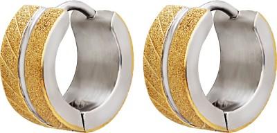 Vaishnavi High Quality Bold Design UNISEX Never Rusts Non-Allergic 316L Stainless Steel Hoop Earring at flipkart