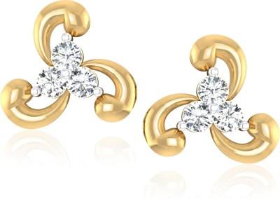 IskiUski Twisted Sunlight Yellow Gold 14kt Swarovski Crystal Stud Earring