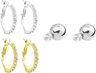 FashBlush Shining Style Combo Cubic Zirconia Alloy Earring Set at flipkart