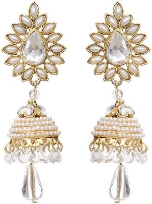Angel In You Diva Style Pearl Alloy Jhumki Earring Angel In You Earrings