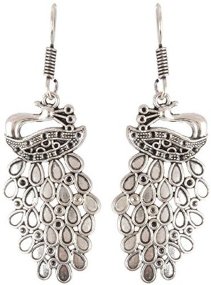 Subharpit Mayur Designed Beautiful Silver Alloy Dangle Earring