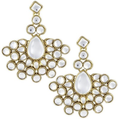 Karatcart Nisha Kundan Brass, Alloy Drops & Danglers at flipkart